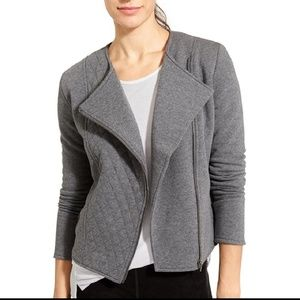 Athleta Quilted Belvedere Moto Jacket Gray